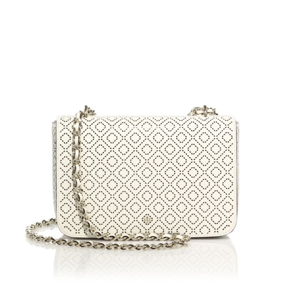 96c24c07045 ... THIS ITEM IS SOLD! Tory Burch perforated white leather purse.  M 5adfbb9845b30cc1e6ba3218